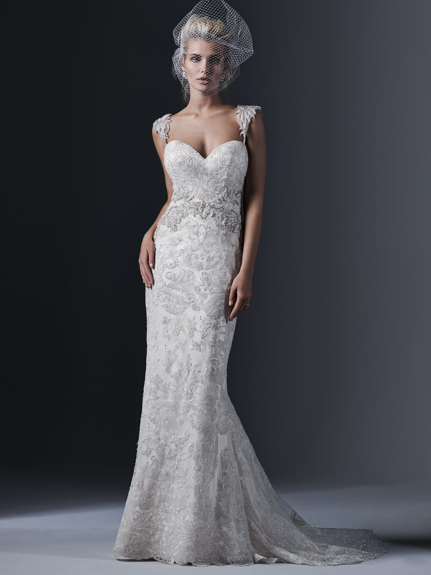 walking in a winter wonderland form fitting wedding dresses 5
