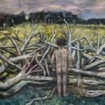 Oliver Dehn, Idol mit Sympathisant, 2012, Öl auf Leinwand, 35 cm x 30 cm
