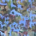 blue sun 2013 105x135 cm Acryl Fotokopie auf Leinwand