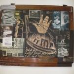 Lebenslinie  2014, Holzschnitt, Stichnadelraierung auf Vintagemöbel