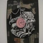 Vinylplatte 30 Jahre mit Schablone, Zeichnung