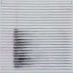 linienschablone 2009/10, Filzstift auf Plexiglasrelief, 52 cm x 62 cm