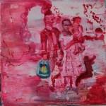 himmlische Familie 2010 Öl auf Leinwand 30 x 30 cm