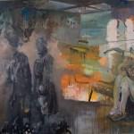 Jäger 2011 Ei-Tempera, Öl auf Leinwand 220 x 200 cm