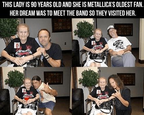 Metallica Meet 90 Year Old Fan