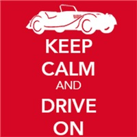 Just British - Keep Calm and Drive On