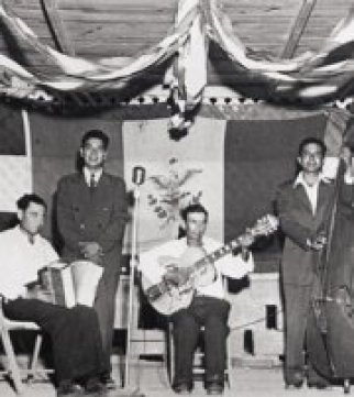Camilo Cantu on accordion 1940s.