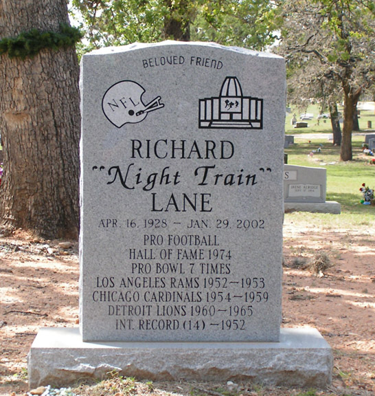 Lane is buried in Austin's Evergreen Cemetery