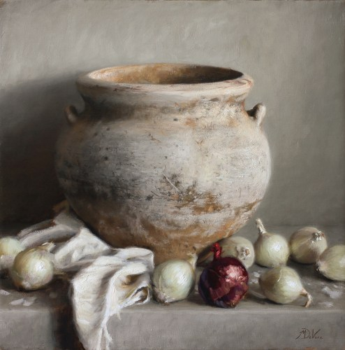 The Weathered Vase, 2015, oil on linen, 24x24in (61x61cm)