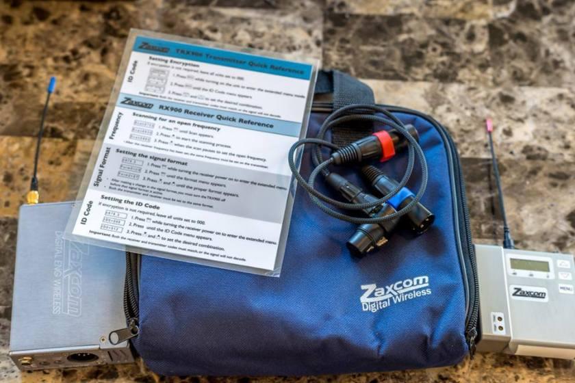 Zaxcom ENG wireless kit.