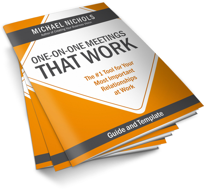 early reviews of the one on one meetings template michael nichols leadership made simple. Black Bedroom Furniture Sets. Home Design Ideas