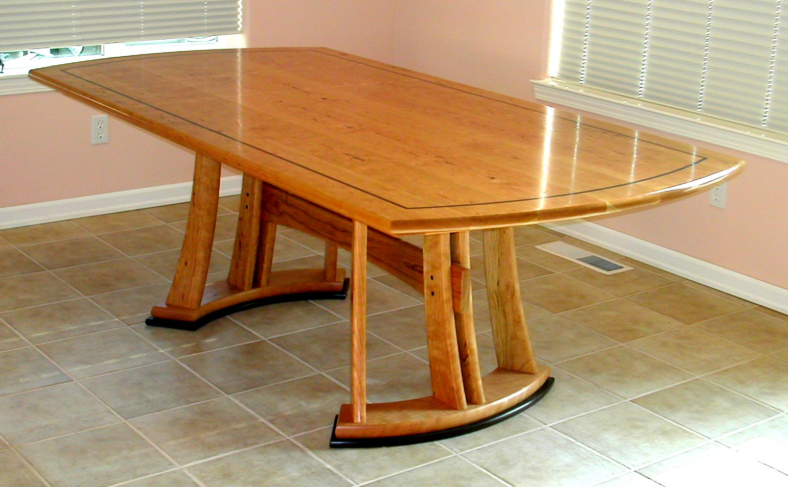choosing wood for furniture. Cherry Dining Table With Wenge Accents Choosing Wood For Furniture