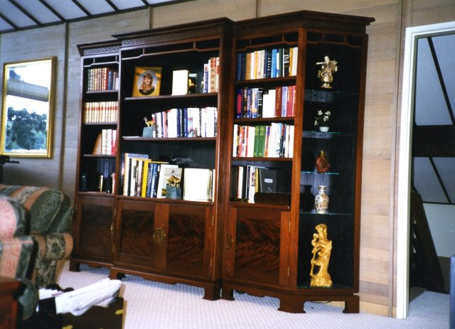 Mahogany bookcase/display - asian style