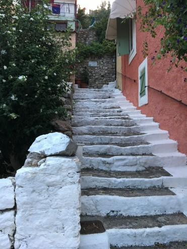 Greek towns have lots of small stair cases