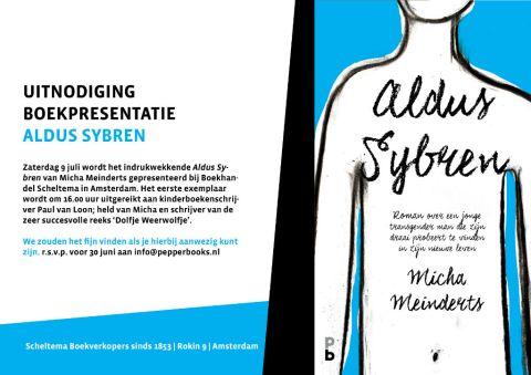 UITNODIGING ALDUS SYBREN - MICHA MEINDERTS
