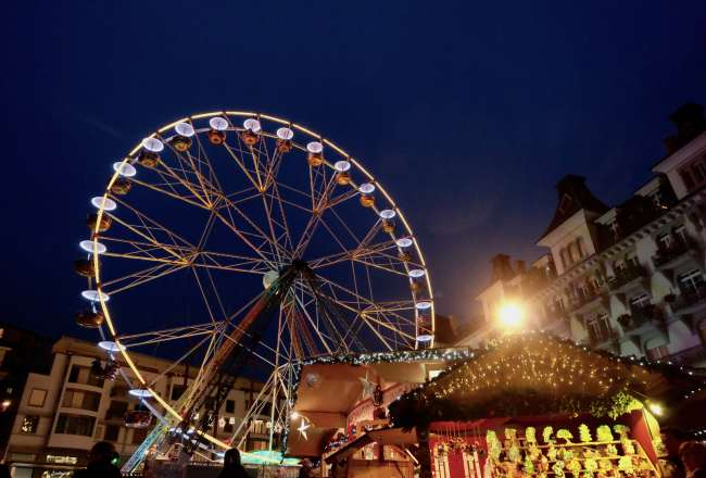 ferris wheel christmas market