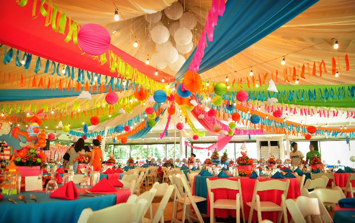 mess hall birthday decoration ideas for her