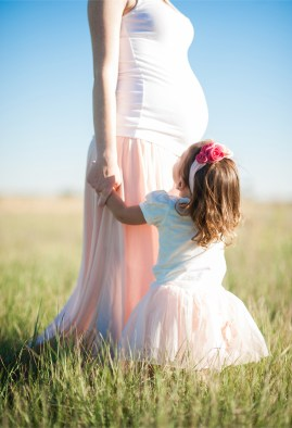 Parenting mom daughter pink skirt