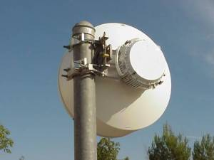 Microwave ODU with Antenna using FDD (Frequency Division Duplex)