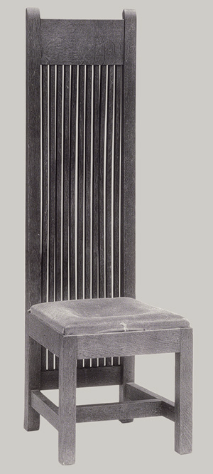 the furniture of frank lloyd wright high back chair