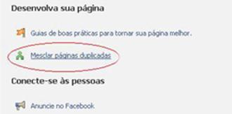 opcao juntar paginas mesclar fan page facebook Como converter um perfil no Facebook em uma fan page? Sim, é possível!