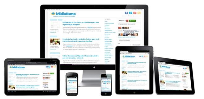 Layout do Midiatismo utiliza a técnica de design responsivo.