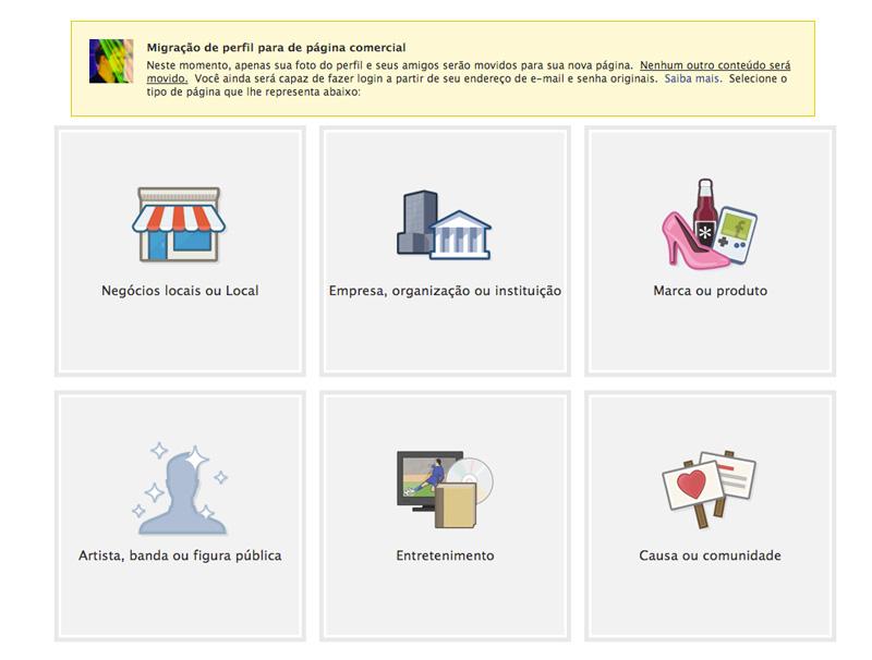 perfil para pagina fanpage fan page facebook migrate Como converter um perfil no Facebook em uma fan page? Sim, é possível!