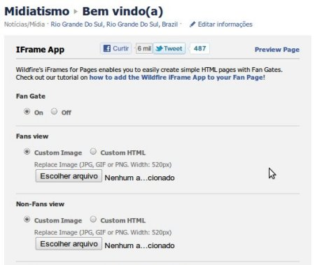 wildfire app 7 aplicativos de abas para fan page do Facebook