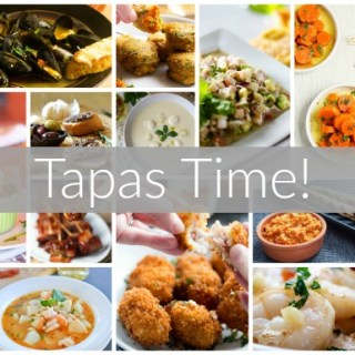 A round up of Spanish Tapas Recipes from all my food blogging friends.