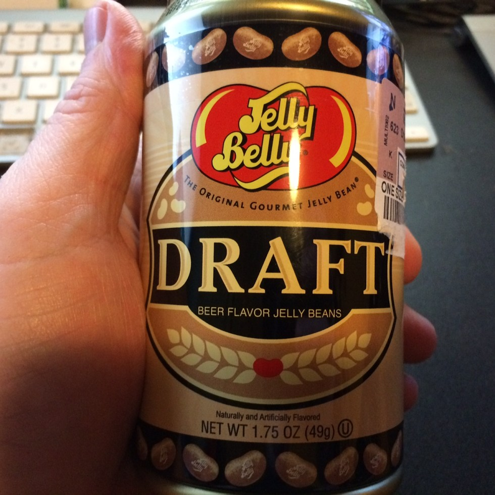 Jelly Belly Beer Flavored Jelly Beans.  Tomorrow, I'll find out what they taste like. :-)
