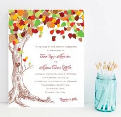 Inspiring Woodland Wedding Invitations Carved Fall Weddinginvitation By Whimsical Prints Fall Wedding Invitations Bride Fall Wedding Invitations Etsy Fall Wedding Invitations Ideas