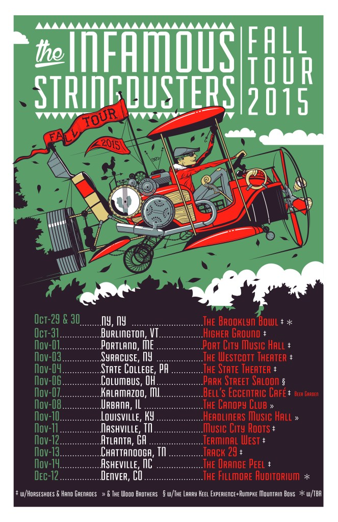 The Infamous Stringdusters Fall 2015 Tour