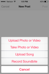 Apple Music Connect New Post Attachments