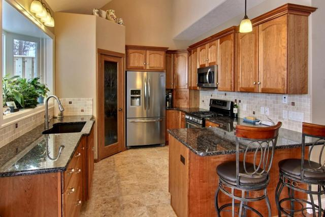 Kitchen from Dining Room with standard vaulted ceiling (116 FWHD)
