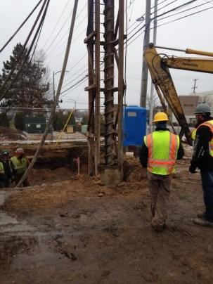 """Hardman Construction Crews Drilling 14"""" x 35' Deep Reinforced Concrete Piers"""