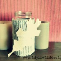 Gör en ljuslykta med en känlsa av höst (DIY Fall Leaf Candle Holder)
