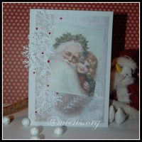 Julkort med tomtar