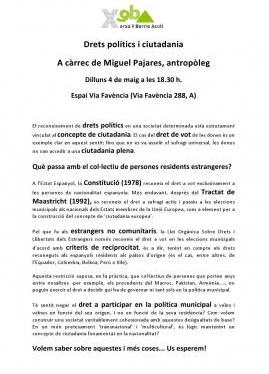 Derechos políticos y ciudadanía. 4 de mayo