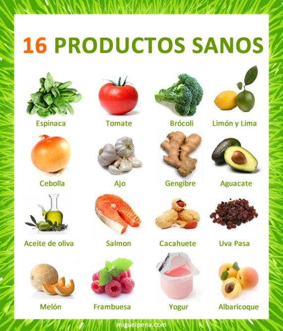 16 productos sanos