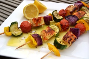 Vegetable & Grilled Tuna Kebabs