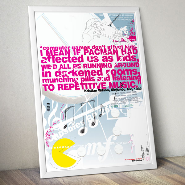 Pac-Man Poster Print