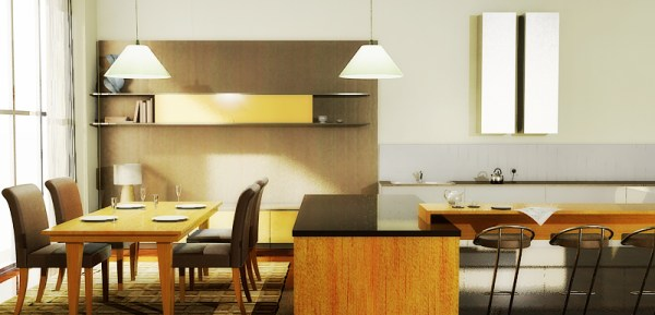 Early render of the Pogenpohl kitchen