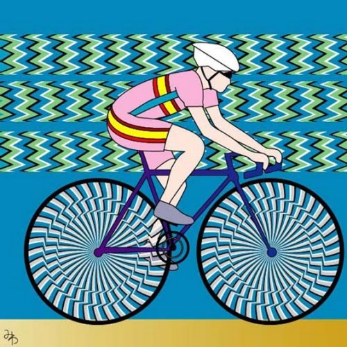 Bicycle Rider optical illusion