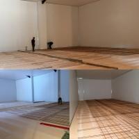 Reinforced concrete flooring