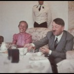 Adolf Hitler Gertrud Deetz meal lunch smile Theodor Morell Hugo Jaeger color relax