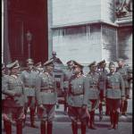German officers at the Arc de Triomphe during fall of Paris