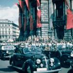 Hitler enters Vienna for the Austrian plebiscite. 1938