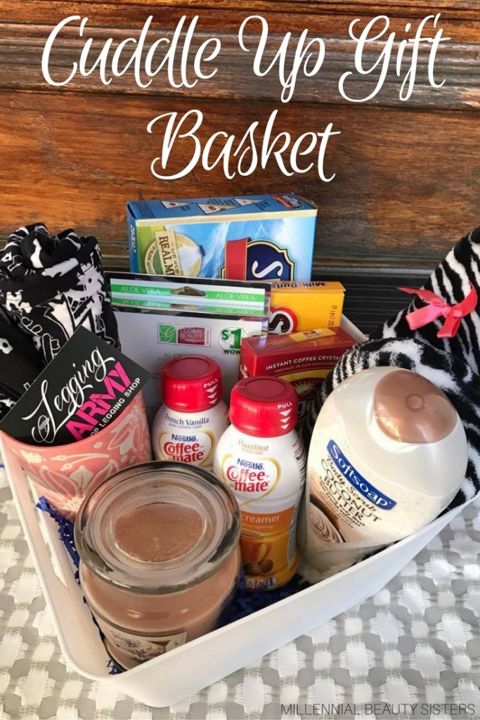 Putting together the perfect gift basket is easier than you might think. Here is a quick and easy cuddle up gift basket tutorial!