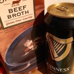 Add beef broth and Guinness