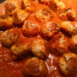 Simmer browned meatballs in marinara to finish